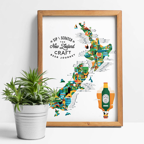 Sip n' Scratch Poster NZ