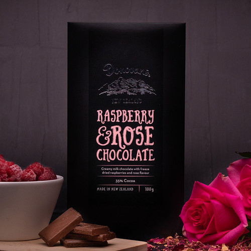 Donovan's Raspbery & Rose Chocolate Bar