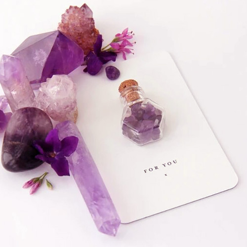 Amethyst Crystal Gift Card - Cloud Nine NZ