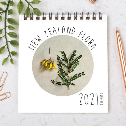 Mixie 2021 Desk Calendar NZ Flora