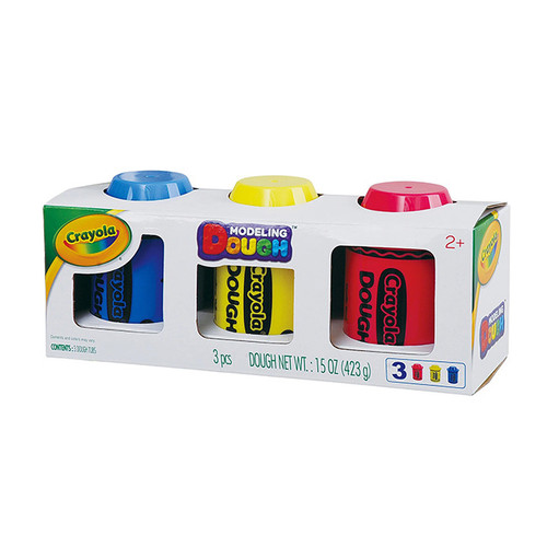Crayola Modeling Dough 3 Pack - Red, Yellow & Blue