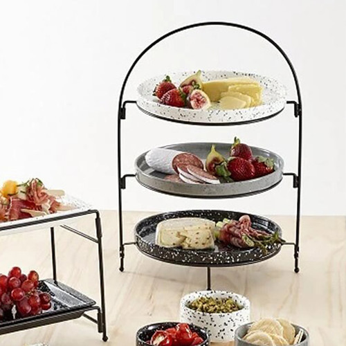 Terazzo Assorted 3 Tier Round Serving Tower
