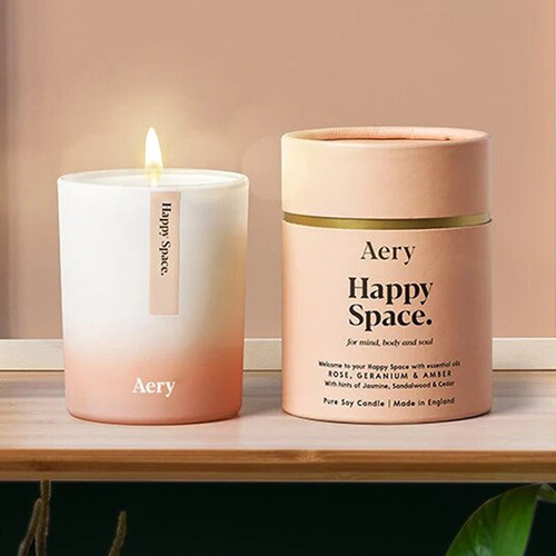 Aromatherapy Soy Candle: Happy Space