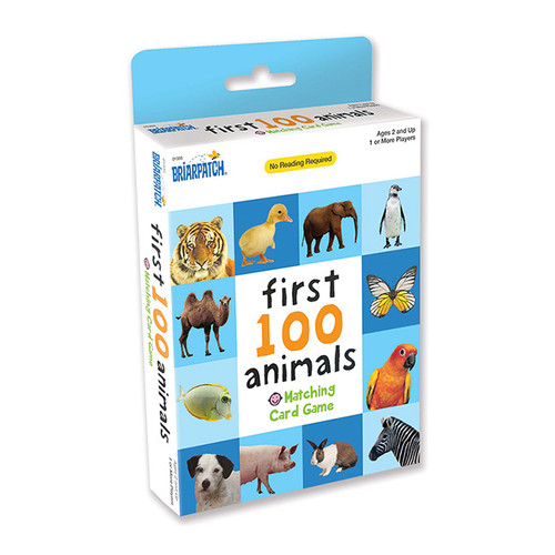First 100 Matching Card Game Animals