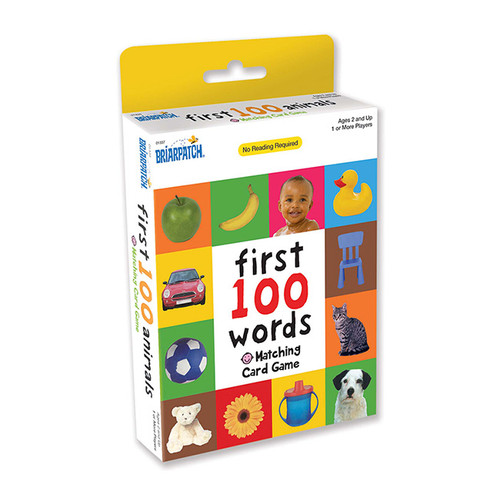 First 100 Matching Card Game Words