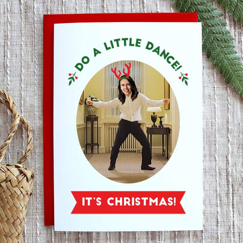 Do a Little Dance Jacinda Christmas Card