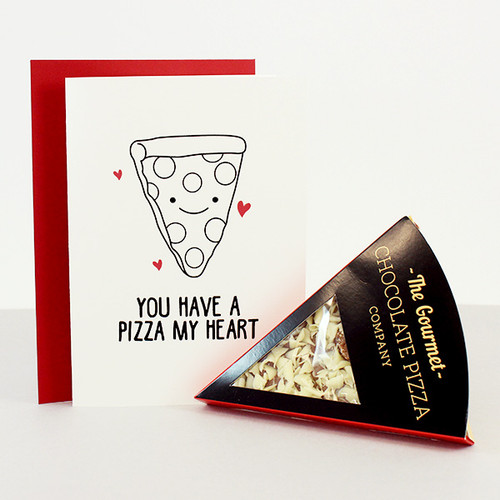 You Have a Pizza My Heart - Chocolate Pizza & Card