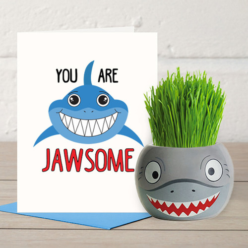 You are Jawsome - Grass Hair Kit & Card