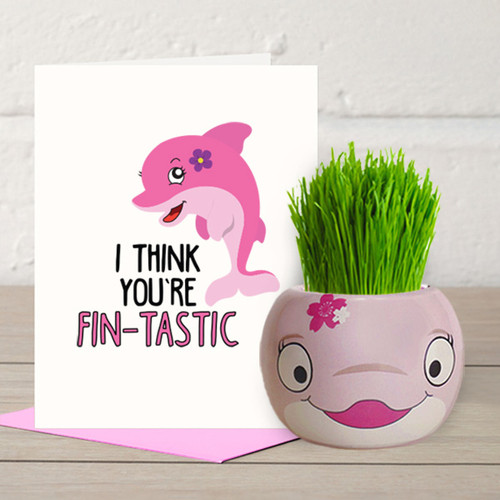 You are Fin-tastic - Grass Hair Kit and Card