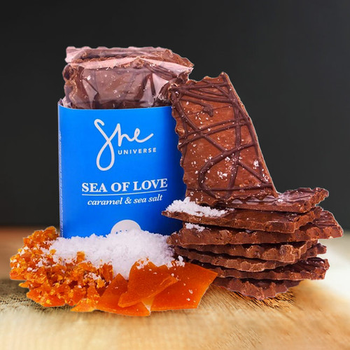 Sea of Love Caramel & Sea Salt Chocolate Thins