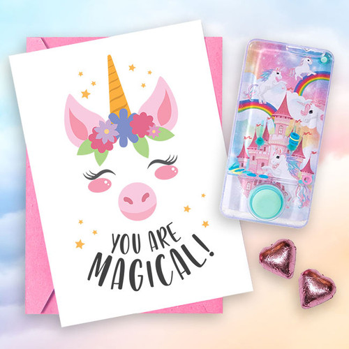 """You are Magical"" Water-Filled Game & Card"