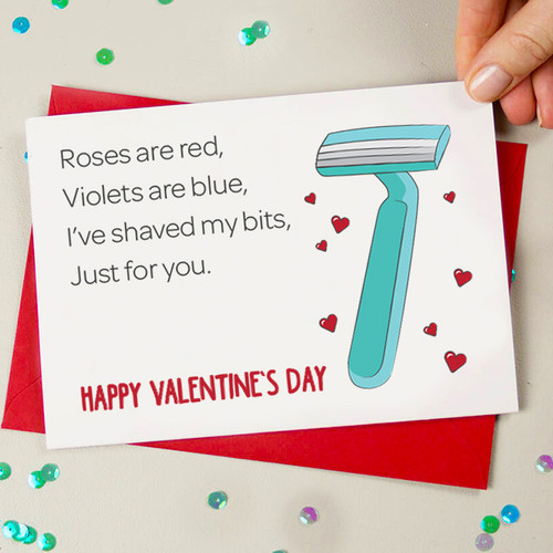 Shaved my Bits Valentine's Card