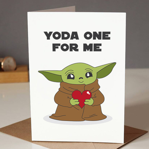 Yoda One For Me Card