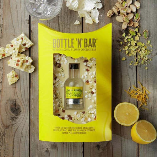 Bottle 'n' Bar: Lemon Gin, White Chocolate, Pistachio & Meringue
