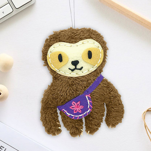 DIY Sewing Sloth Charm