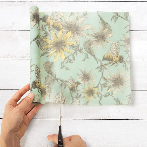 Reusable Beeswax Food Wrap: Bees 1 Metre Roll