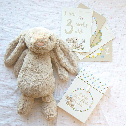 Bashful Bunny Baby's First Photo Cards