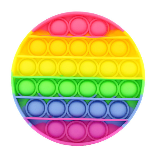 Rainbow Circle Silicone Push Pop It Bubble Fidget Toy
