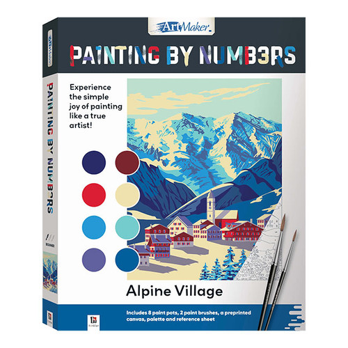 Artmaker Paint By Numbers: Alpine Village NZ