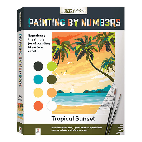 Artmaker Paint By Numbers: Tropical Sunset NZ