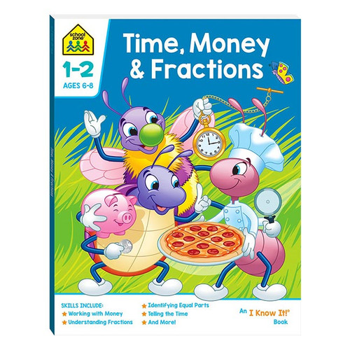 School Zone Time, Money and Fractions NZ