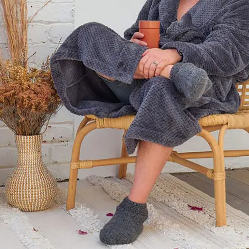 Men's Charcoal Slouch Slippers