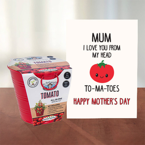 Love You Mum To-Ma-Toes Card + Grow Kit