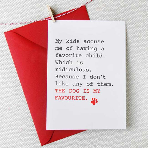 The Dog is My Favourite Card