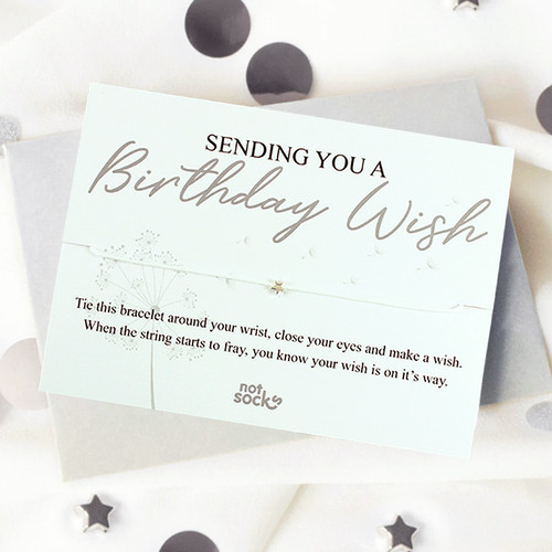 Sending a Birthday Wish Bracelet Card