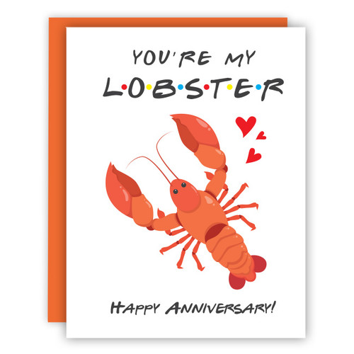 You're My Lobster Anniversary Card