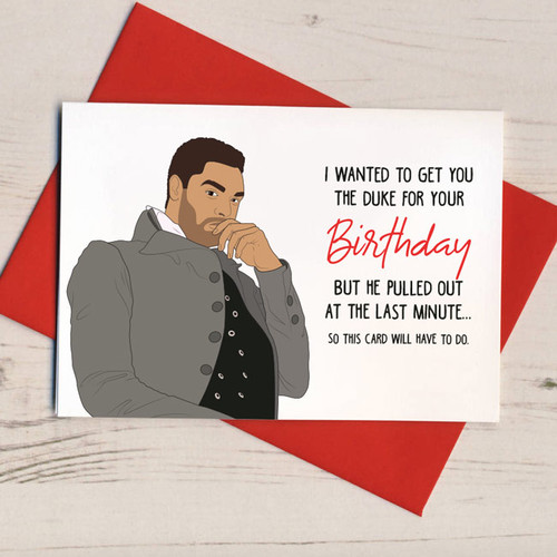 Duke Pulled Out Birthday Card