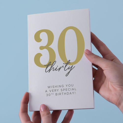 Wishing You a Very Special 30th Birthday Card
