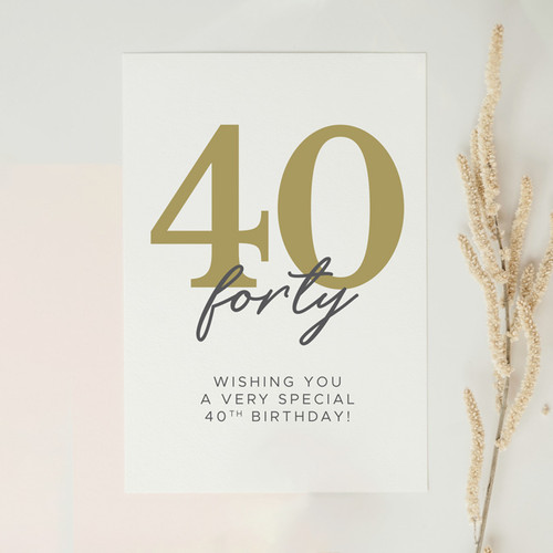 Wishing You a Very Special 40th Birthday Card