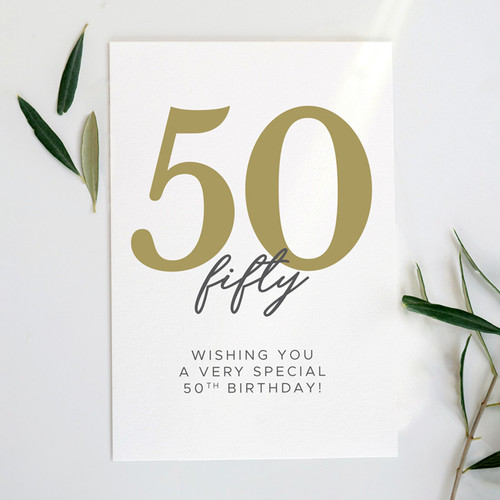 Wishing You a Very Special 50th Birthday  Card