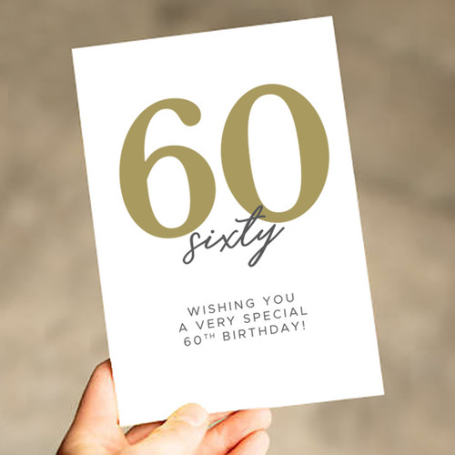 Wishing You a Very Special 60th Birthday Card