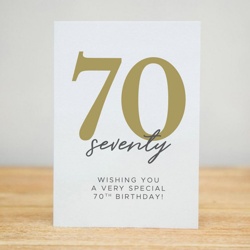 Wishing You a Very Special 70th Birthday Card