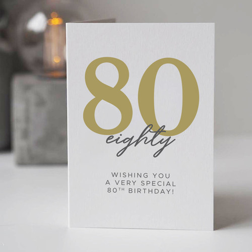 Wishing You a Very Special 80th Birthday Card