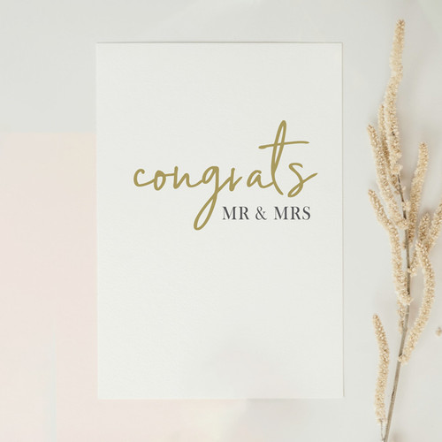 Congrats - Mr & Mrs Card