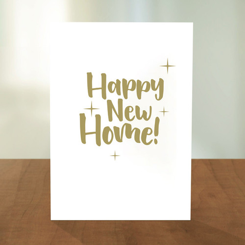 Happy New Home Sparkle Card