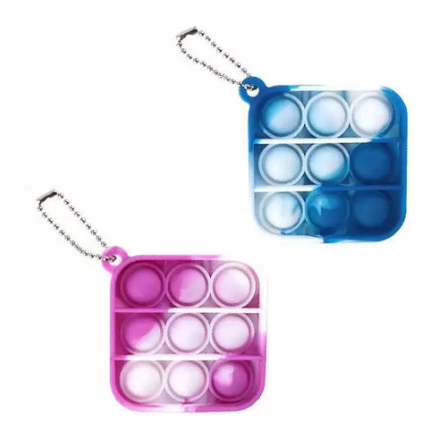 Mini Tie Dye Square Pop It Keychain