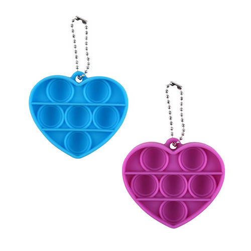 Mini Heart Pop It Keychain