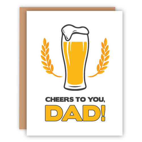 Cheers to you Dad Card