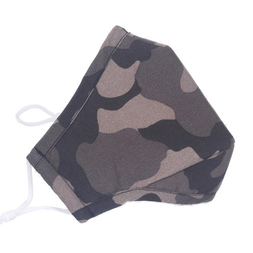 Kids Green Camouflage Reusable Face Mask