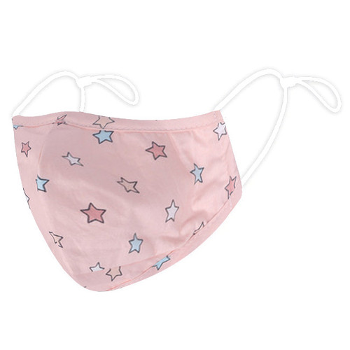 Adult Pink Multi Colour Star Reusable Face Mask