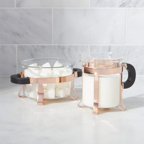 Chambord Copper Sugar and Creamer Set