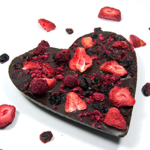 Dark Chocolate Very Berry Heart