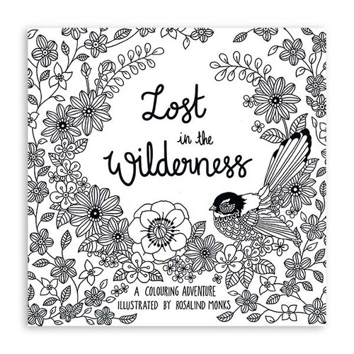 Lost in the Wilderness Colouring Book & Colouring Pencils
