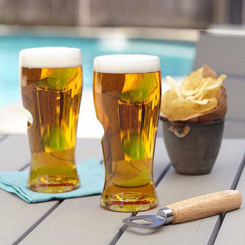 GoVino Beer & Cider Glasses - 4 pack