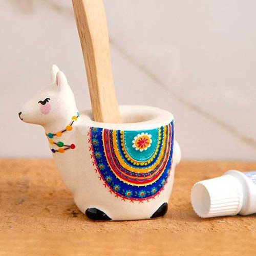 Llama Toothbrush Holder