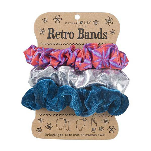 Red Burst Silver Retro Hair Bands